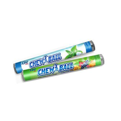 Kino Chew2 Ball Coated Soft Candy Roll 35gr Mint / 24 Pcs