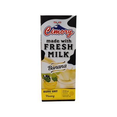 Cimory UHT Fresh Milk Banana 200ml / 1 Ctn = 24 Pcs