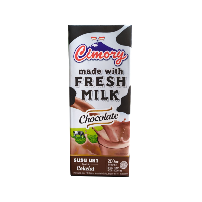 Cimory UHT Fresh Milk Chocolate 200ml / 1 Ctn = 24 Pcs