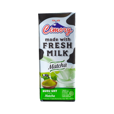 Cimory UHT Fresh Milk Matcha 200ml / 1 Ctn = 24 Pcs