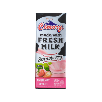 Cimory UHT Fresh Milk Strawberry 200ml / 1 Ctn = 24 Pcs