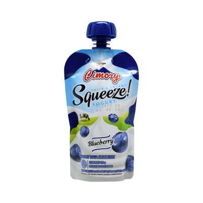 Cimory Yogurt Drink SQUEEZE Blueberry 120mL / 1 Pcs