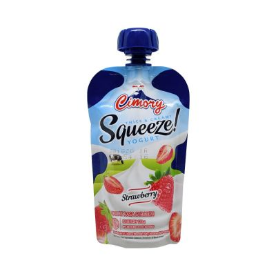 Cimory Yogurt Drink SQUEEZE Strawberry 120mL / 1 Pcs