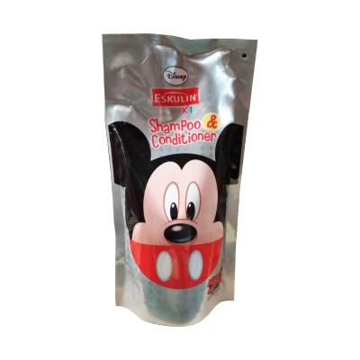 Eskulin Kids Shampo & Conditioner Mickey Refill Pouch 500ml / 1 Pcs