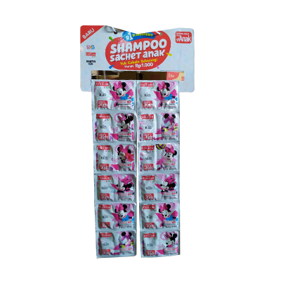 Eskulin Kids Shampo Sachet Minnie (5+5ml) / 2 Rcg = 24 Pcs