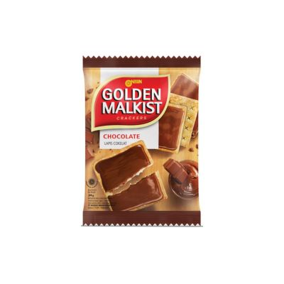 Nissin Golden Malkist 20Gr Choco Coating / 1 Renceng = 10 Pcs