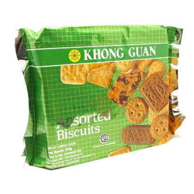 Khong Guan Assorted Biscuit Opp Green Pack 300gr / 3 Pcs