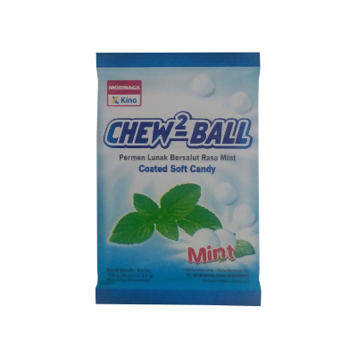 Kino Chew2 Ball Coated Soft Candy Mint 100Gr / 1 Bag
