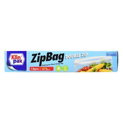 Klinpak Zipbag Double Zip Large 30x38cm / 1 Pcs