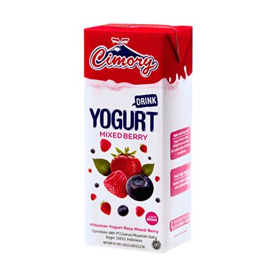 Cimory UHT Yogurt Drink Mixed Berry (200ml) / 1 Ctn = 24 Pcs