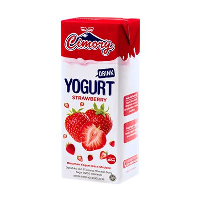 Cimory UHT Yogurt Drink Strawberry (200ml) / 1 Ctn = 24Pcs