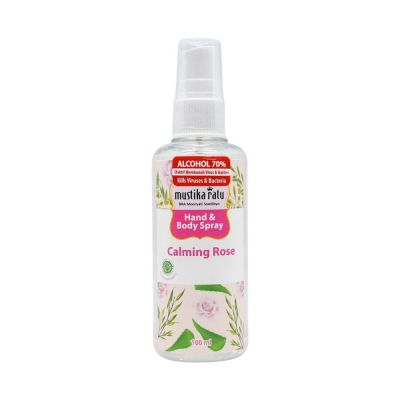 Mustika Ratu Hand & Body Spray 100ml Calming Rose / 1 Pcs
