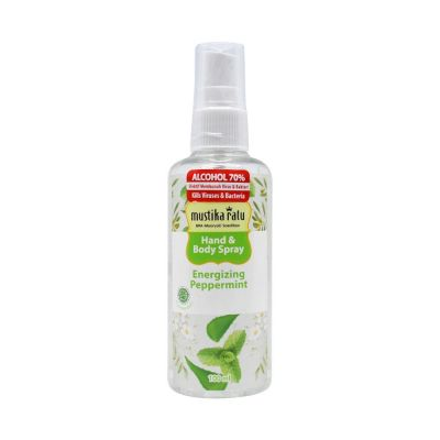 Mustika Ratu Hand & Body Spray 100ml Energizing Peppermint / 1 Pcs