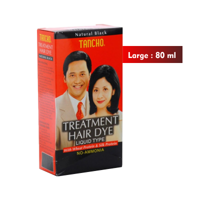 Tancho Treatment Hair Dye Black Large 80ml / 1 Pcs