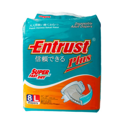 Bagus Entrust Adult Diapers L (isi 8) W-21217 / 3 Pcs